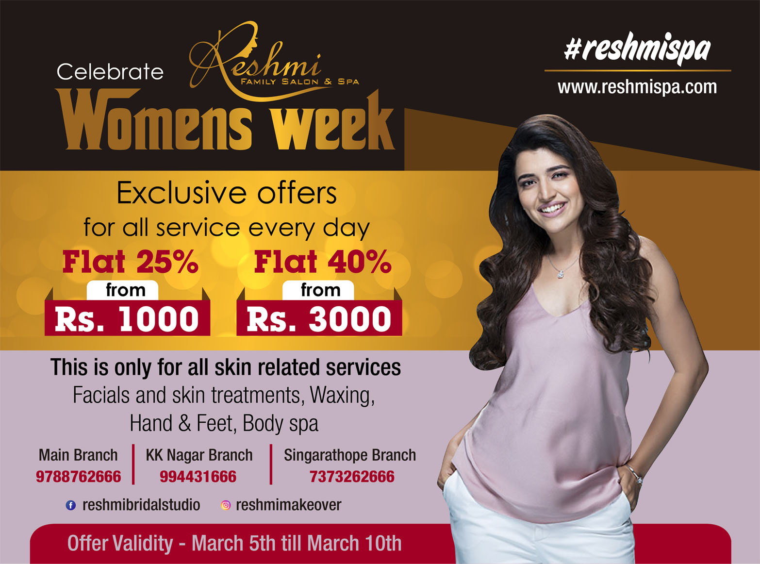 Women's Day Celebration Offer